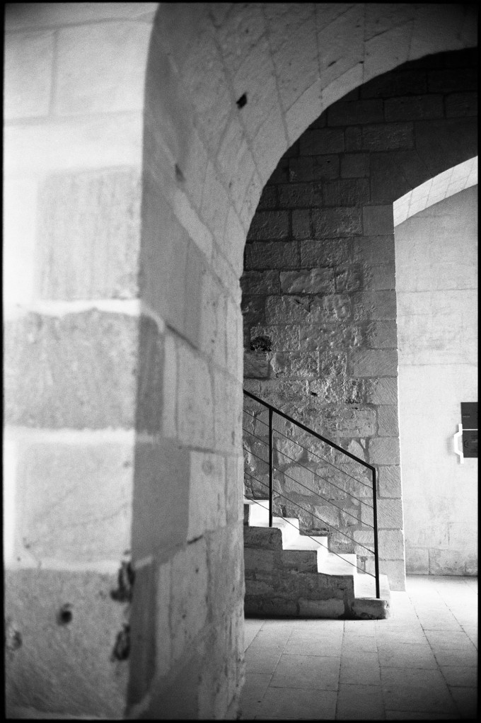 Staircase, Fontevraud Abbey, Chinon, France