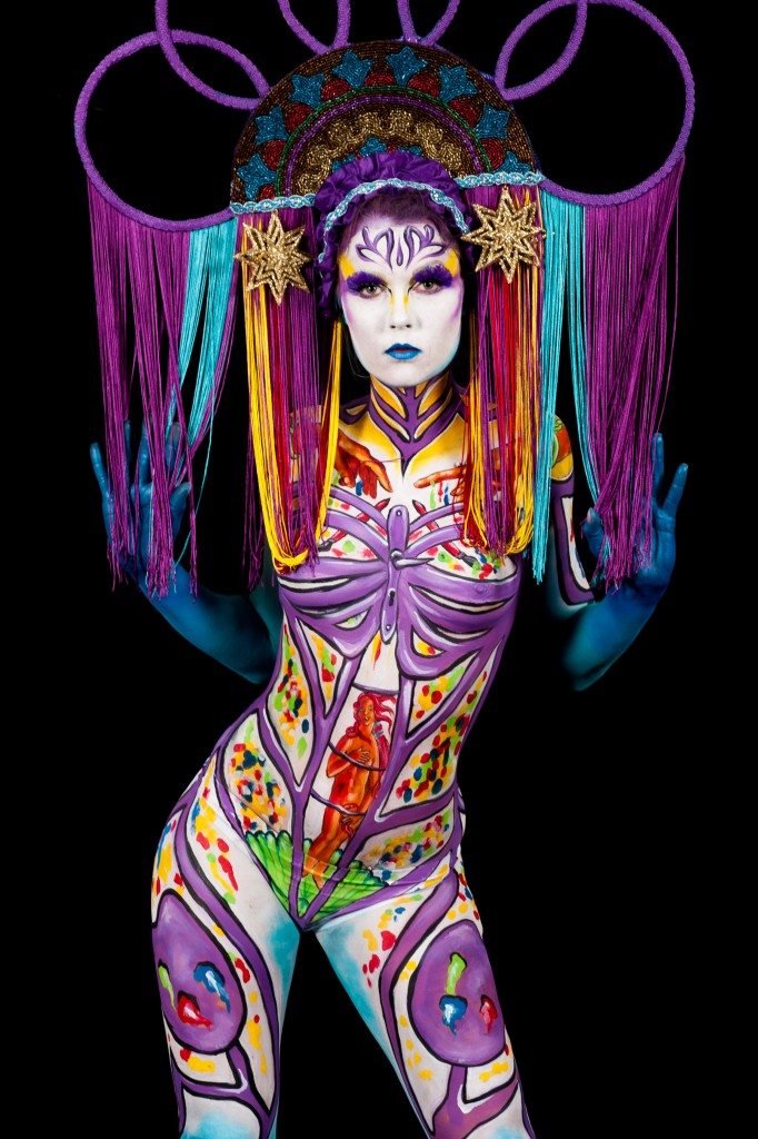 Bodypainting by Lynn Schockmel Model: Larissa Van Soest photo by Lichterwald
