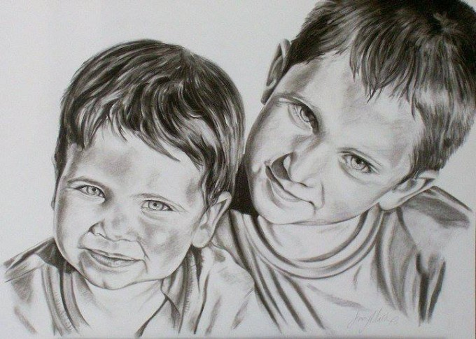 A stunning sample of my portrait work which captures emotion and life in these two boys - private commission