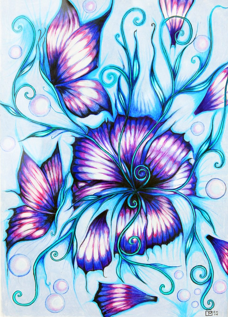 Blooming Butterflies by Laureen Maschek www.laureenmaschek.com https://www.facebook.com/Laureenmaschekartist https://instagram.com/laureen_maschek/