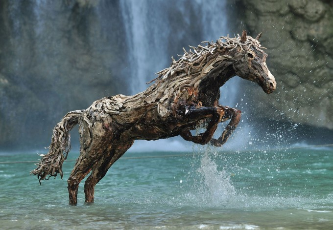 Dionysius jumping in the waterfall - MR