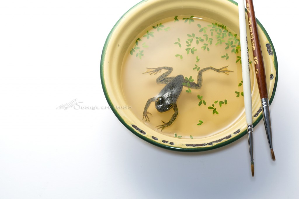 Tang Ciwan small frog (Acrylic on Resin)