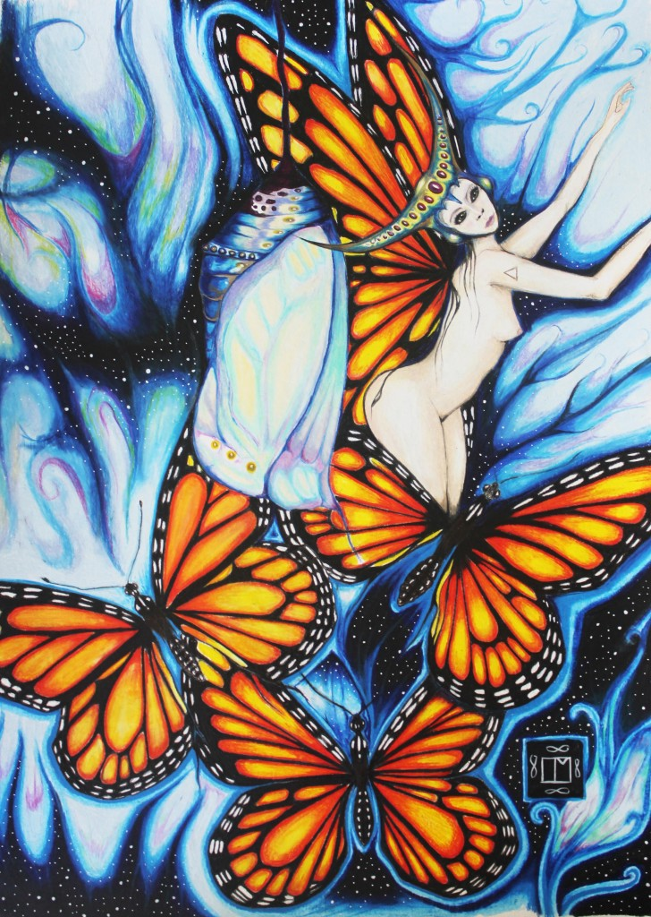 Queen of the Butterflies by Laureen Maschek www.laureenmaschek.com https://www.facebook.com/Laureenmaschekartist https://instagram.com/laureen_maschek/