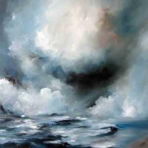 Oil on canavas, original oil painting inspired my movement and storms.
