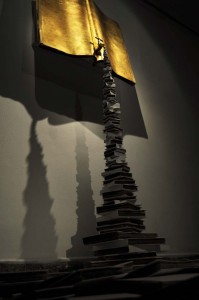 The Reproduction of knowledge -Book Art Project - By Chadi Adib Salama - 400 X 400 X 200 cm - Paper and Mixed Media - Showing in  Cairo, Egypt 2011 and in  Quito, Ecuador 2012 - (4)