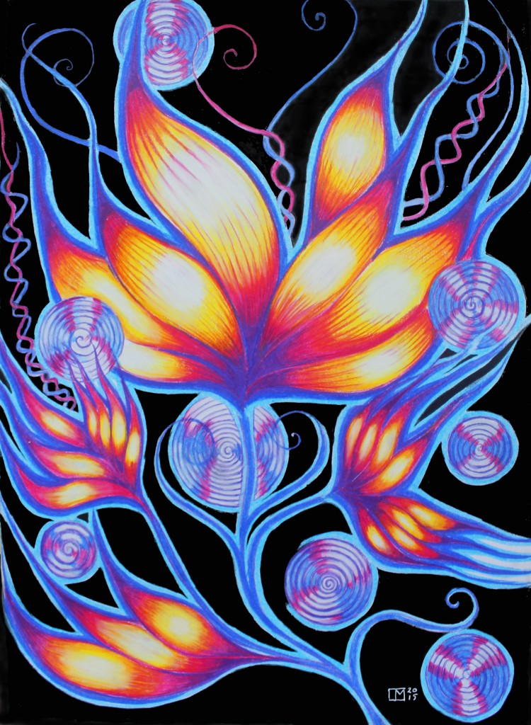 Vortex Flower by Laureen Maschek www.laureenmaschek.com https://www.facebook.com/Laureenmaschekartist https://instagram.com/laureen_maschek/