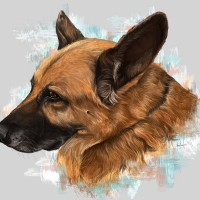 """Princesa"" Dog portrait"
