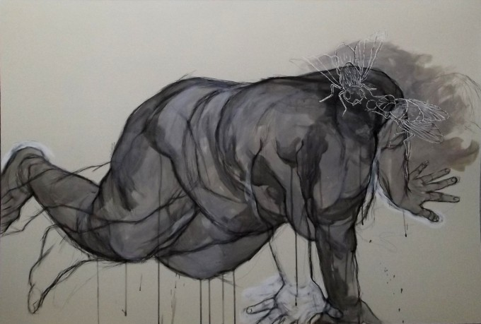 120x80cm, pen, chinese ink and acrylic on hard paper, 2013
