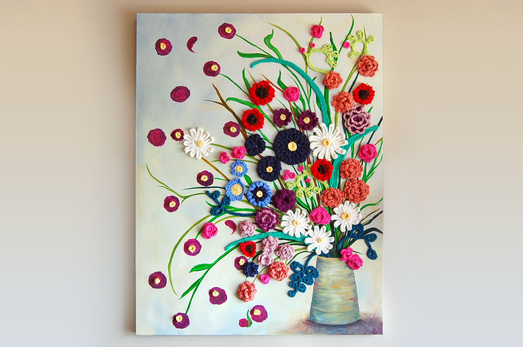Painting + Crochet, Jennifer Cox - Art People Gallery