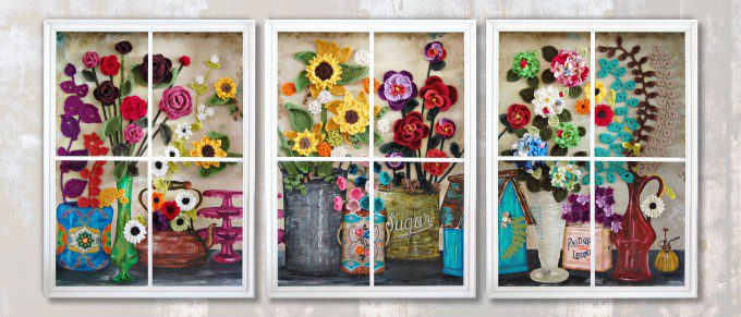 Flower Shop Window - Triptych