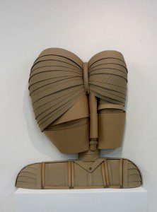 cardboard art portrait