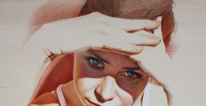 4-EPPUR-PARLA-pastel-pencils-on-rough-wood-40x40-2014-680x683