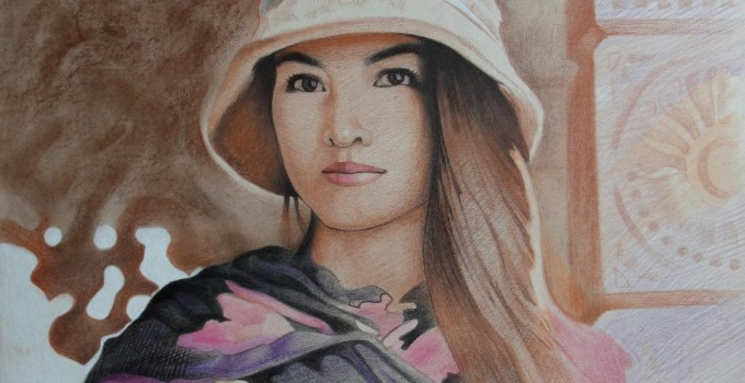 6. Lily (colored pencils on paper)