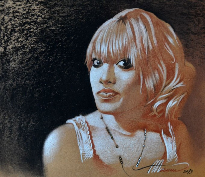 9. Robyn (mixed media on toned paper)