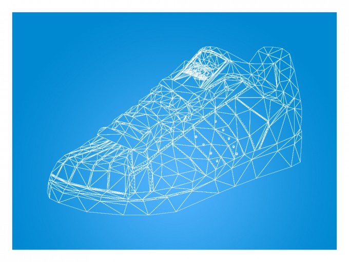Adidas Superstar 80's Super Real Low Poly Portrait
