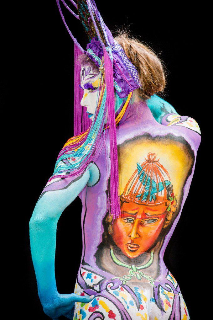 Body Art by Lynn Schockmel photo by Jochen Van Zeeland  model: Larissa Van Soest