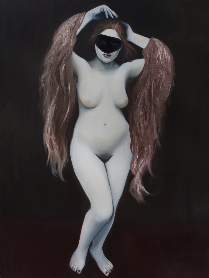 "Ataraxia, 2014, oil on canvas, 36"" x 48"" (91 x 122 cm) www.amaliakouvalis.com"