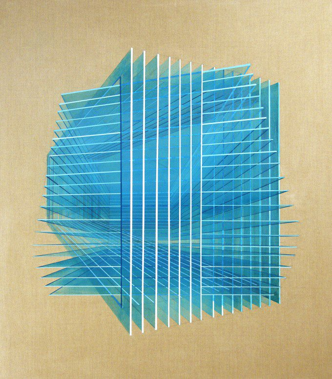 Augmenting Space (120x105cm Synthetic Polymer on canvas, 2015