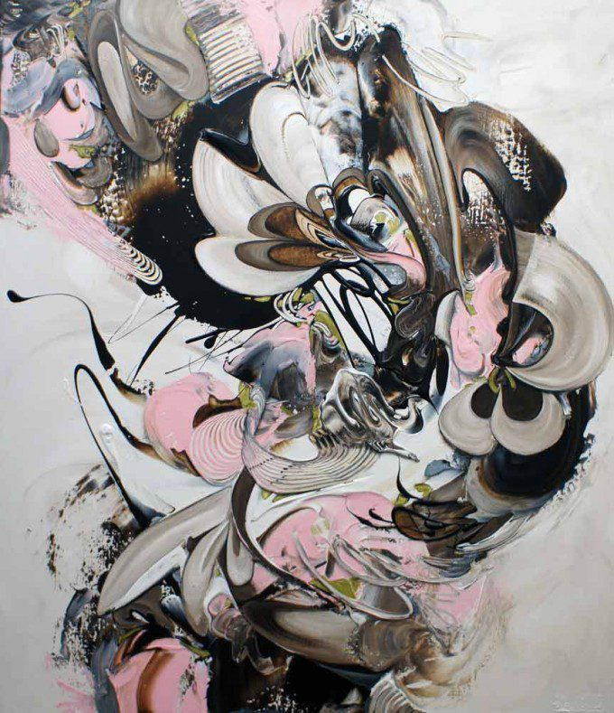 Esther Barend - Dynamic Abstracts - 140x120x4 cm