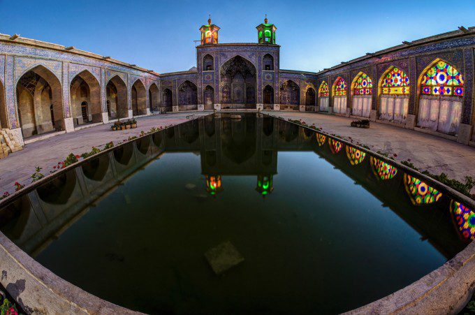 The Yard of Nasir-ol-Mulk Mosque