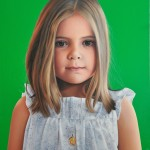little girl II, oil on canvas, 100 cm x 80 cm, private collection