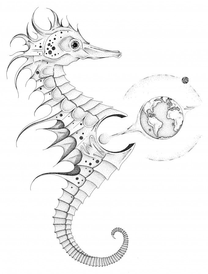 God is a sea horse