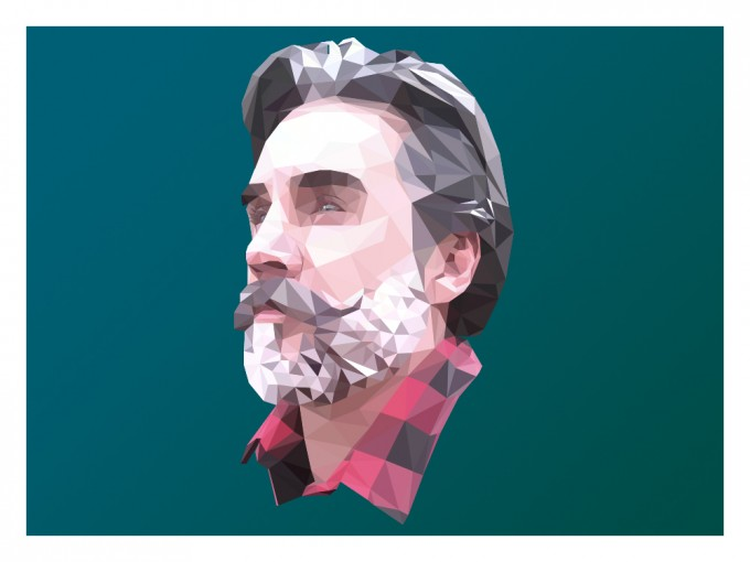 Greg Berzinsky Super Real Low Poly Portrait