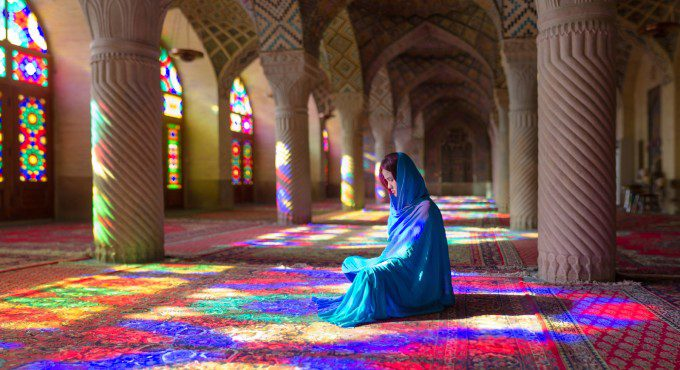 In Dream of Colors ,  A Chinese woman in meditation