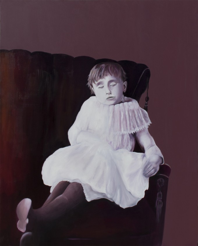 "Hester, 2014, oil on canvas, 48"" x 60"" (122 x 152 cm) www.amaliakouvalis.com"