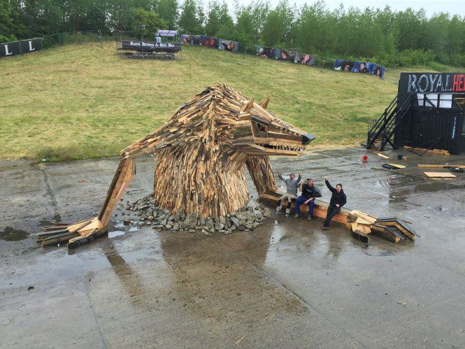 Giant Sculptures From Scrap Wood