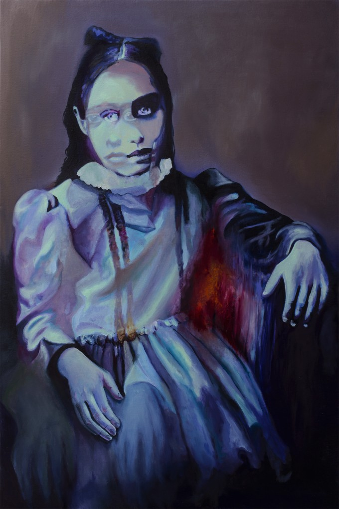 "In Limbo, 2014, oil on canvas, 24"" x 36"" (61 x 91cm) www.amaliakouvalis.com"