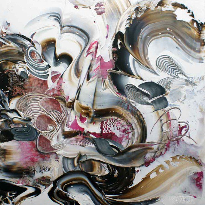Esther Barend - Dynamic Abstracts - 100x100x4 cm