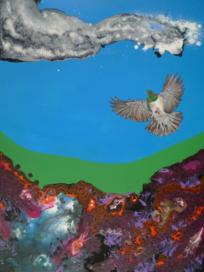 Kereru over Lava (dont eat me)