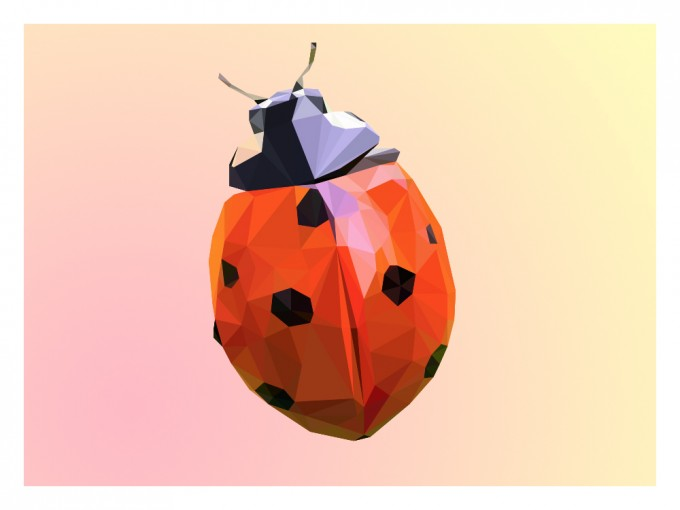 Ladybug Super Real Low Poly Portrait