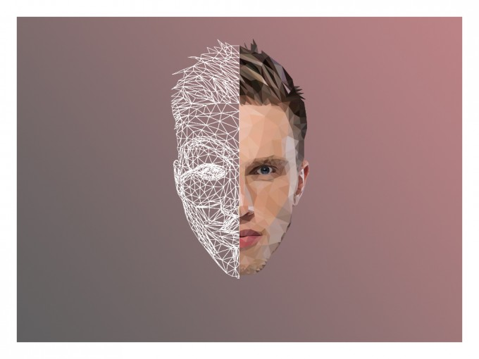 Nicky Romero Super Real Low Poly Portrait
