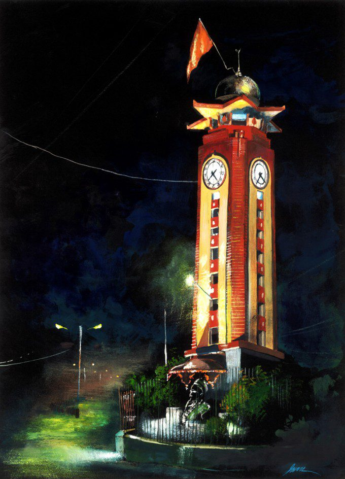 A Moument built in memory of brave pilot Cpt. R. M. Oak. Almost a century old clock tower built at the heart of Kalyan city.