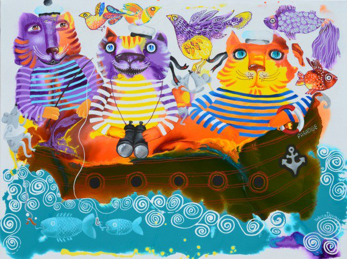 Artwork: Spring choir Size: 76 x 101cm Material: Acrylic on canvas