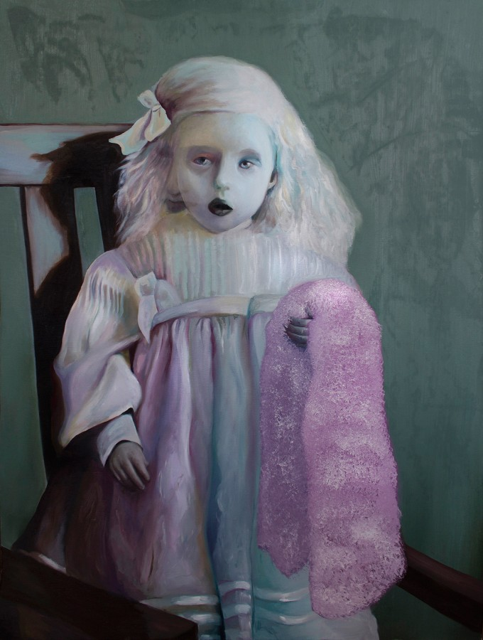 Penumbra, 2014, oil on canvas, 30'' x 40'' (76 x 102 cm) www.amaliakouvalis.com