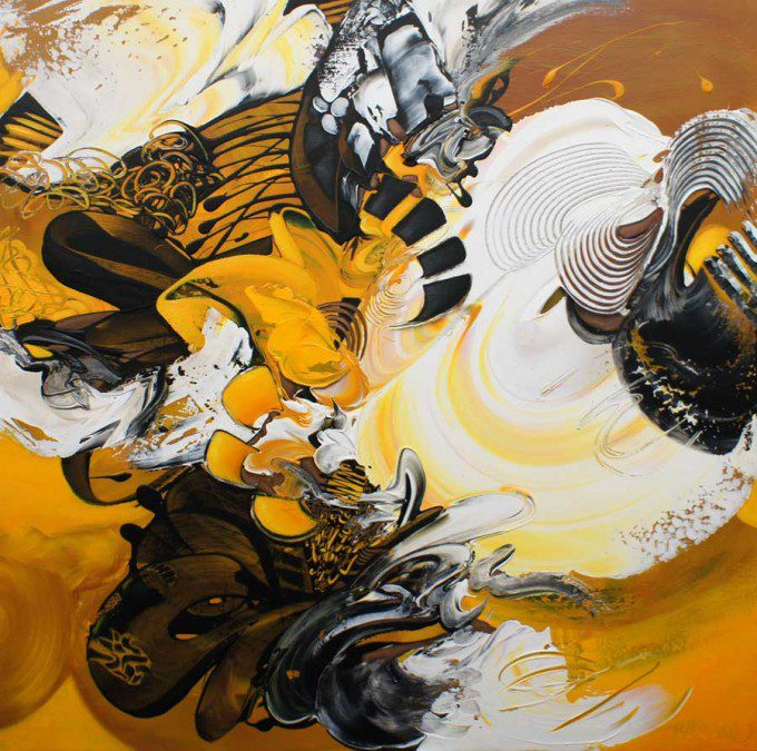 Esther Barend -  Dynamic Abstracts 120x120x4 cm