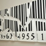 compositions from painting frames,contemporary art,modern art,barcode series