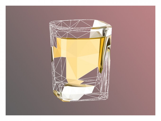 Tequila Super Real Low Poly Portrait