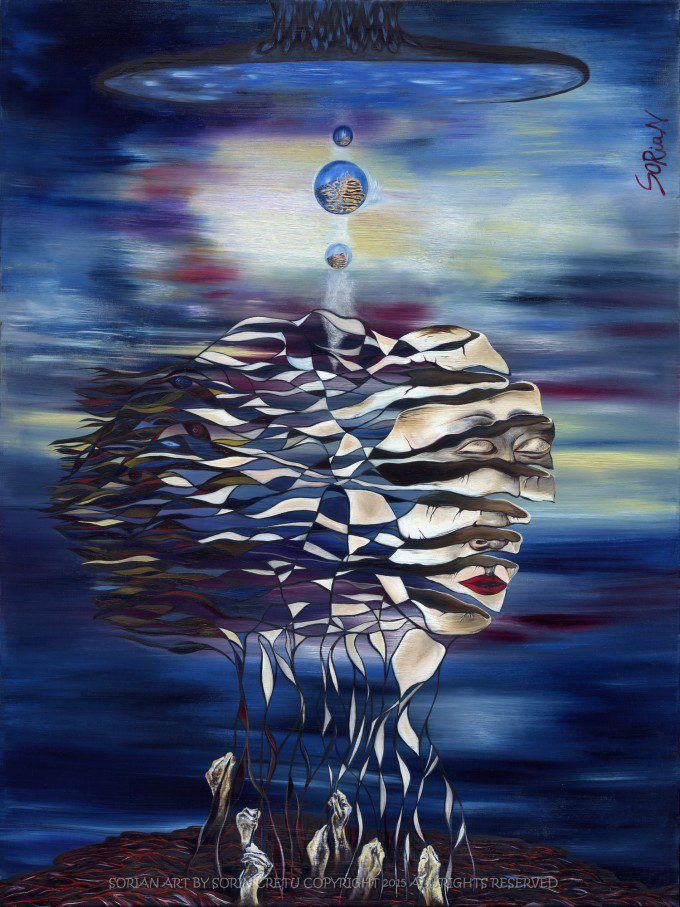 Birth of Self   SORiaN - Oil on canvas - 2015 Size:  40x30 inch