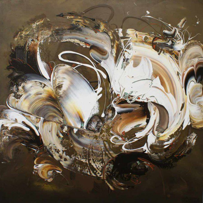 Esther Barend - Dynamic Abstracts - 150x150x4 cm