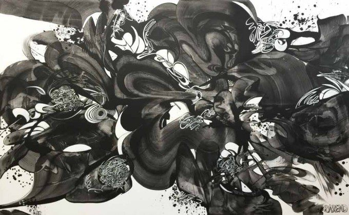 Esther Barend - Dynamic Abstracts - 160x260x4 cm