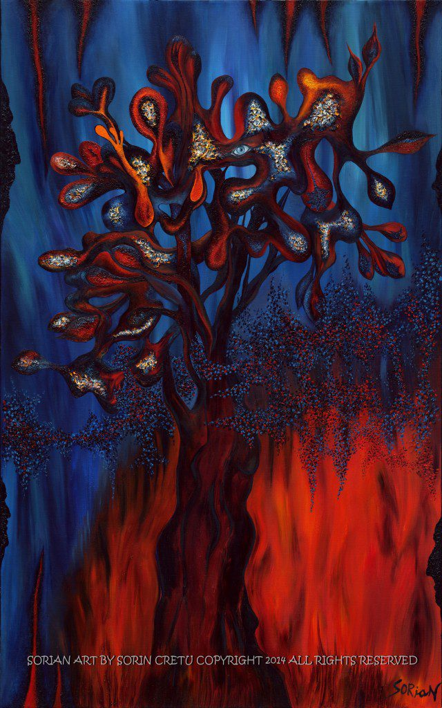 Tree of life - Amended   SORiaN - Oil on canvas - 2014 Size: 48x30 inch