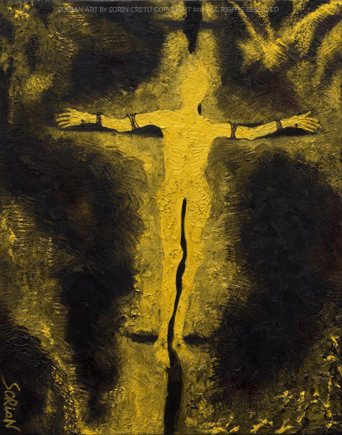 Unknown Man crucified   SORiaN - Oil on canvas - 2014 Size: 28x22 inch