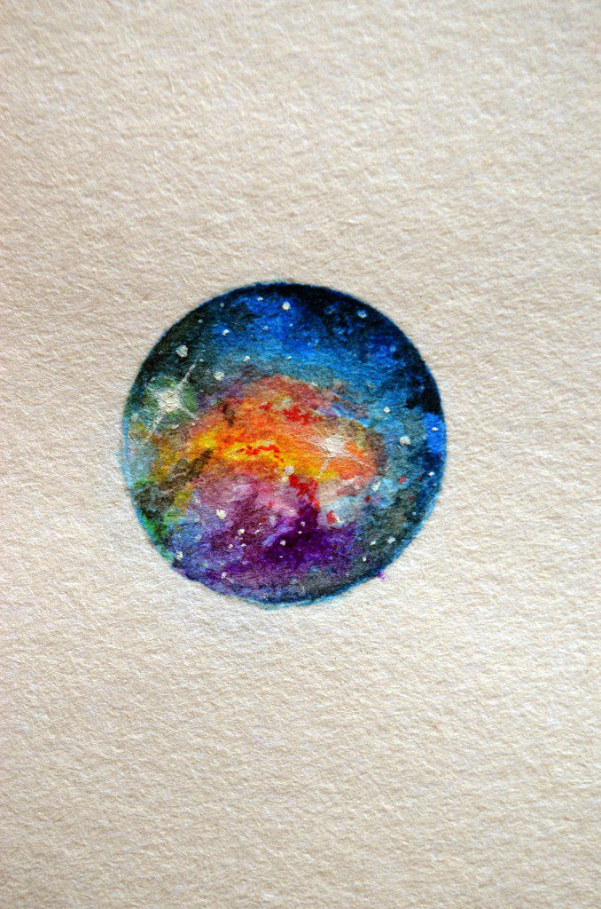 Miniature Watercolor Painting by Khervin Gallandez