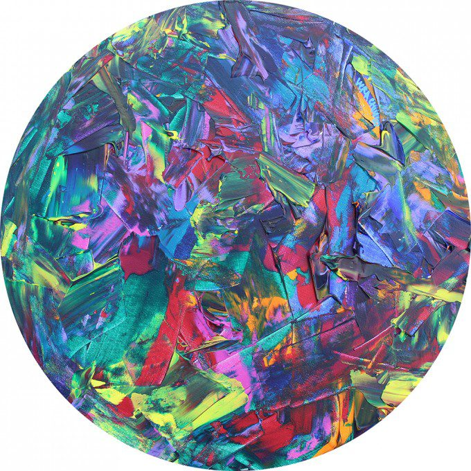 Diameter 40.5cm Acrylic on canvas