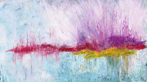 Abstract oil pastel by S.J. Holub