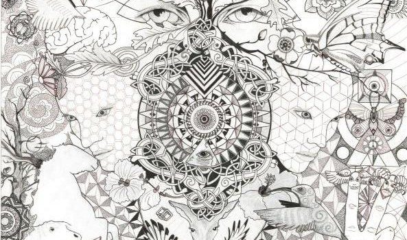 A drawing of the patterns I see in all things.